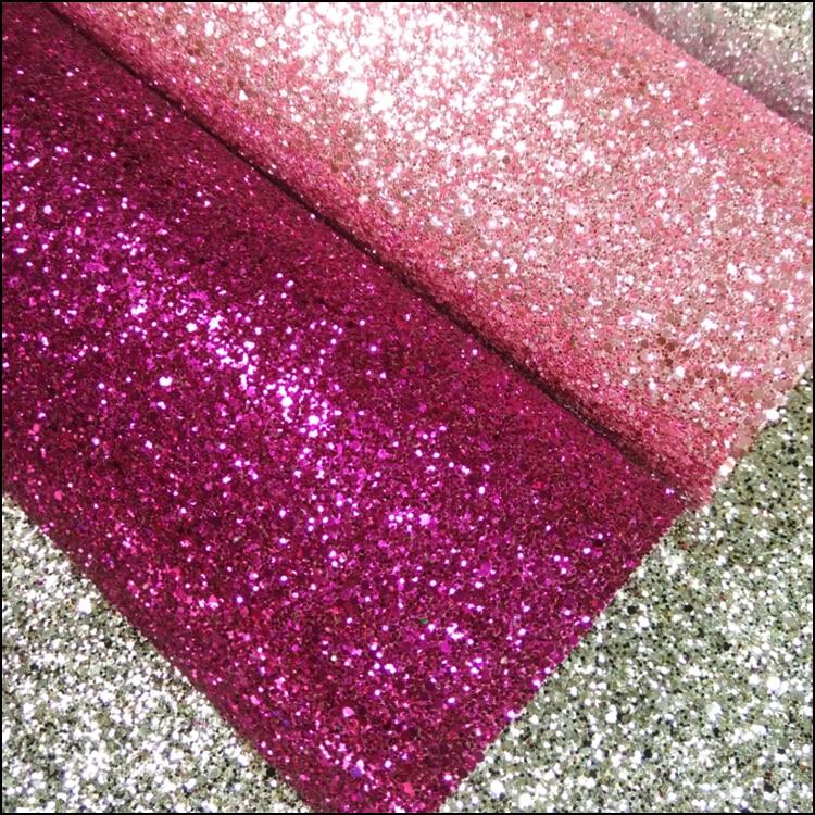 50 Meter pro rolle) Staubige rosa glitter chunky ...