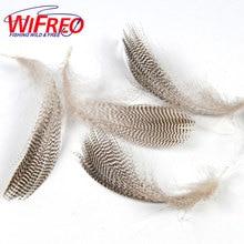 [20 шт./пакет] Wifreo натуральный запрещено Кряква фланге перья дикий гусь волос для Fly крылья хвосты растяжки мушек Материал