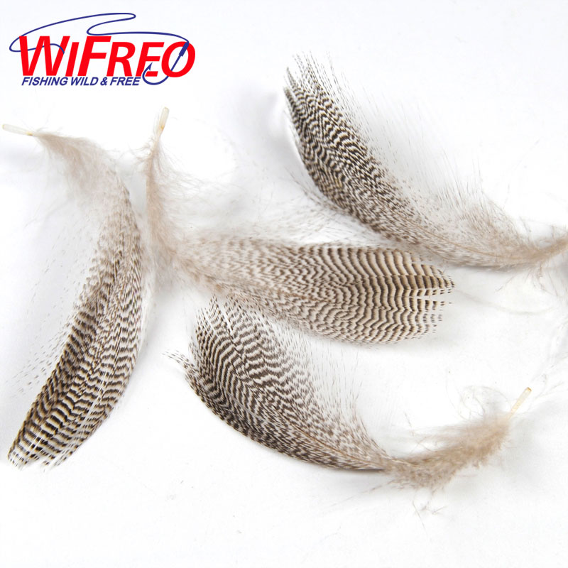 12 pcs 6 pairs Guinea Pearl Hen Wing Tail Quills Feather Wing Fly Tying Material