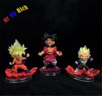 3pcs UG Legend of Super Saiyan Son Goku Vegeta Broly Figure