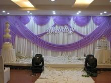 wedding background yarn curtain Wedding Backdrops Wedding stage decor,white and purple Wedding Curtain