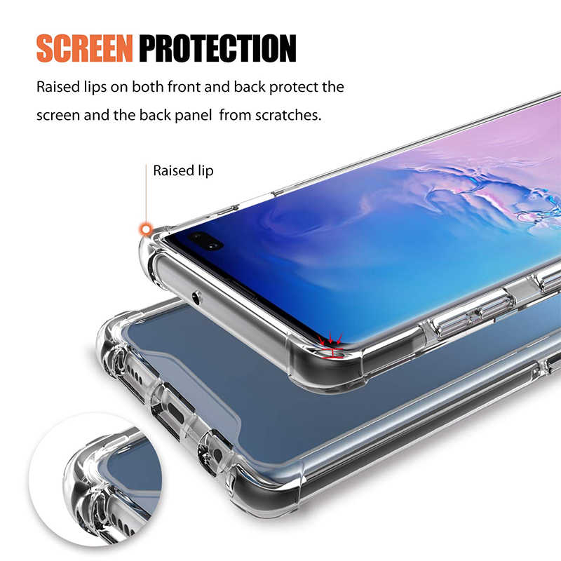 TPU cover for samsung s 10 9 8 case samsung galaxy s8/s10/s9 case screen protector for samsung galaxy s 10/9/8 plus case