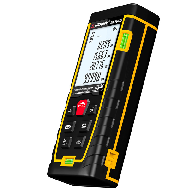 SNDWAY Laser Distance Meter 40-120M with LCD and Auto Power Off to Measure Wide Range Area 27