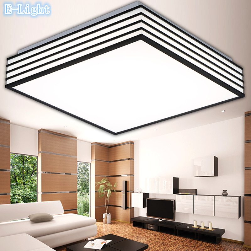 Led ceiling lights square kitchen light modern lamp restaurant led ceiling lights square kitchen light modern lamp restaurant bathroom lamps reflex black border leds lighting round 4028cm in ceiling lights from workwithnaturefo