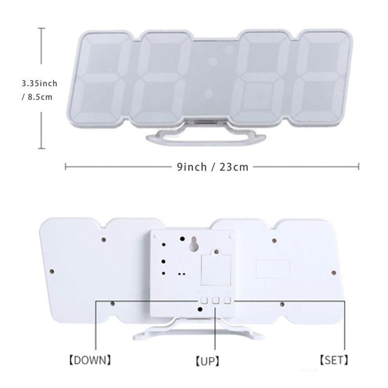 Stimme aktiviert Farbe 115 Drahtlose Fernbedienung LED Remote Temperatur Wecker Kreative Schlafzimmer Stumm - 4