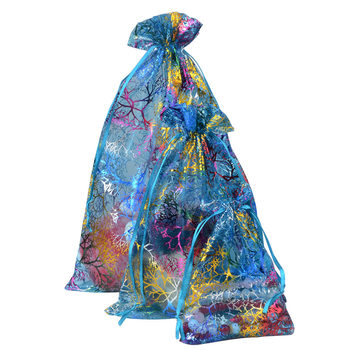 Chanfar Favor Wedding Organza Christmas Gift Bags Drawable Packaging Bags 5