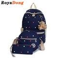 Schooltas RoyaDong Crianças Backpack School Bolsas Para Meninas Sacos de Escola Crianças Mochilas Bebê Definir o Saco de Escola Para Meninas Mochila