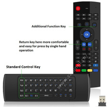 Wireless Keyboard 3in1 Air Fly Mouse GYRO Sensing