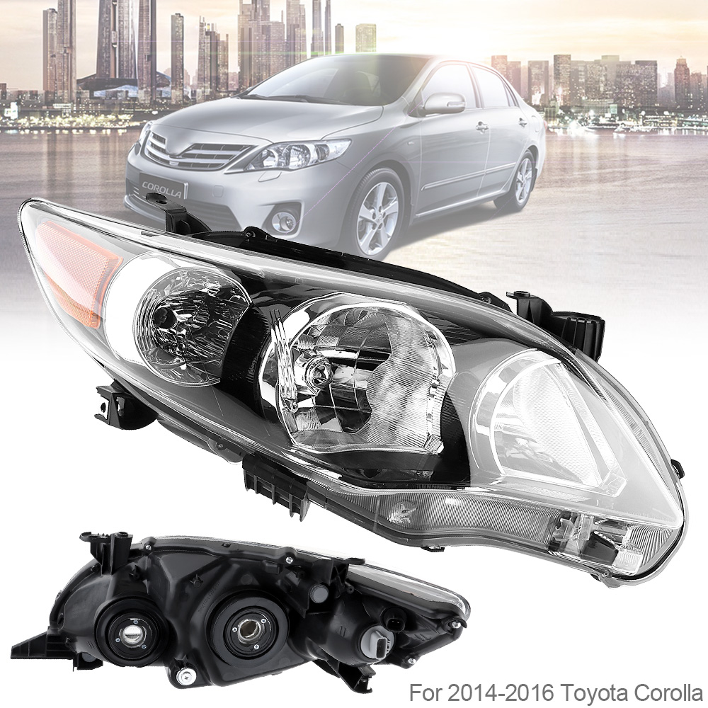 Waterproof Durable Driver Side Headlight Headlamp for 2011 2013 Toyota Corolla Base CE LE Car Headlights