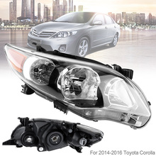 Waterproof Durable Driver Side Headlight Headlamp for 2011-2013 Toyota Corolla Base/CE/LE Car Headlights