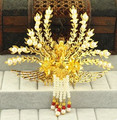 Cabeza de la princesa de oro decorativo accesorios accesorios para el cabello de la reina corona corona pelo de la boda chino antiguo dinastía cosplay