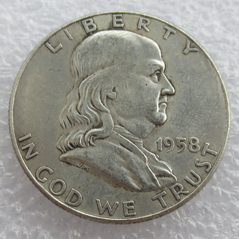 1958 P D Franklin Silver Half Dollar 90% silver or silver plated copy coins High Quality