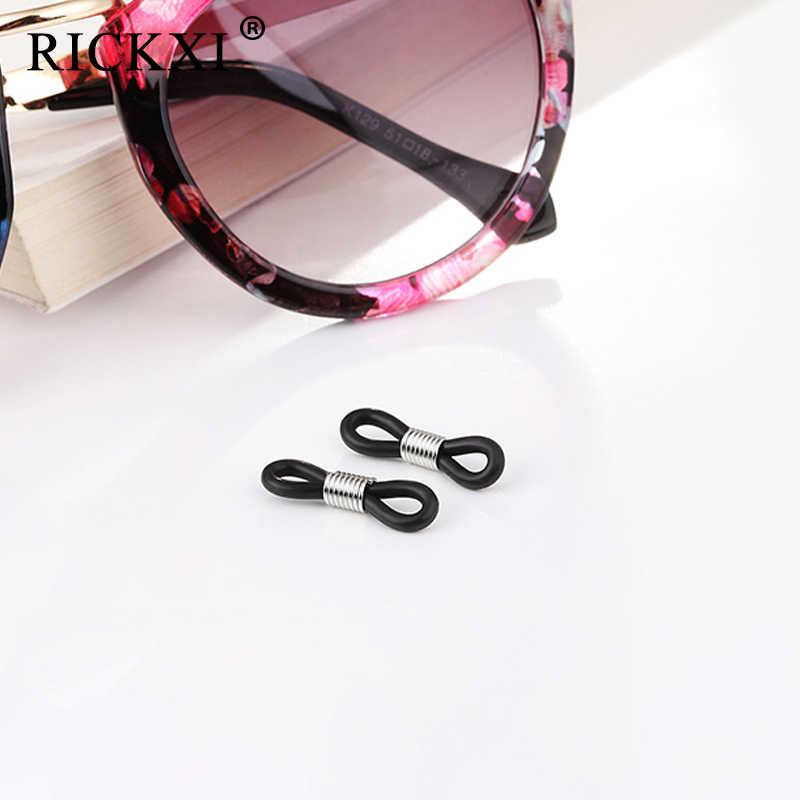 20 adet/grup Kulak Kancası Aksesuarları Gözlük Zinciri Antiskid Kauçuk Halka Kauçuk Halka Kayış Halkalar Silikon Gözlük Bandı Halat