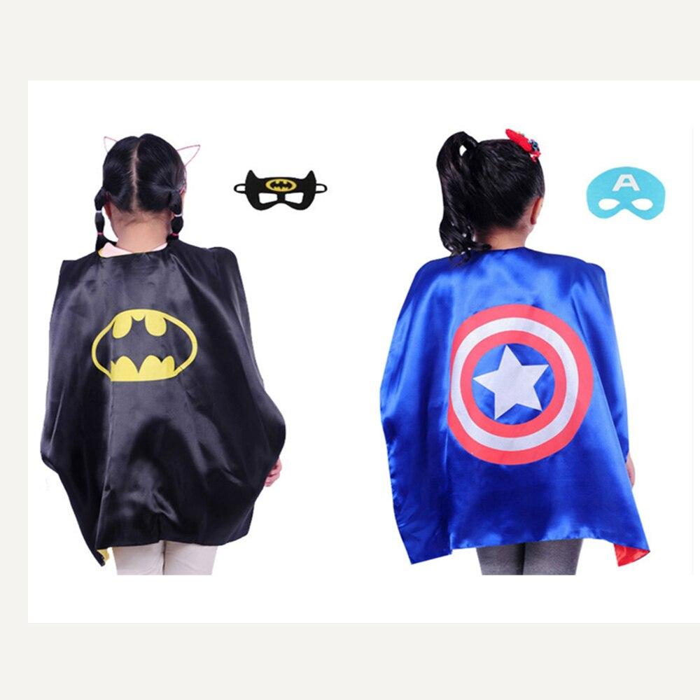 Superhero <font><b>cape</b></font>(<font><b>1</b></font> <font><b>Cape</b></font> +<font><b>1</b></font> mask) <font><b>Superman</b></font> batman <font><b>spiderman</b></font> superhero costume kids Halloween party costumes for Christmas