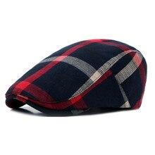 Classic Englad Style Plaid Berets Caps For Men Women Casual Unisex Sports Caps C