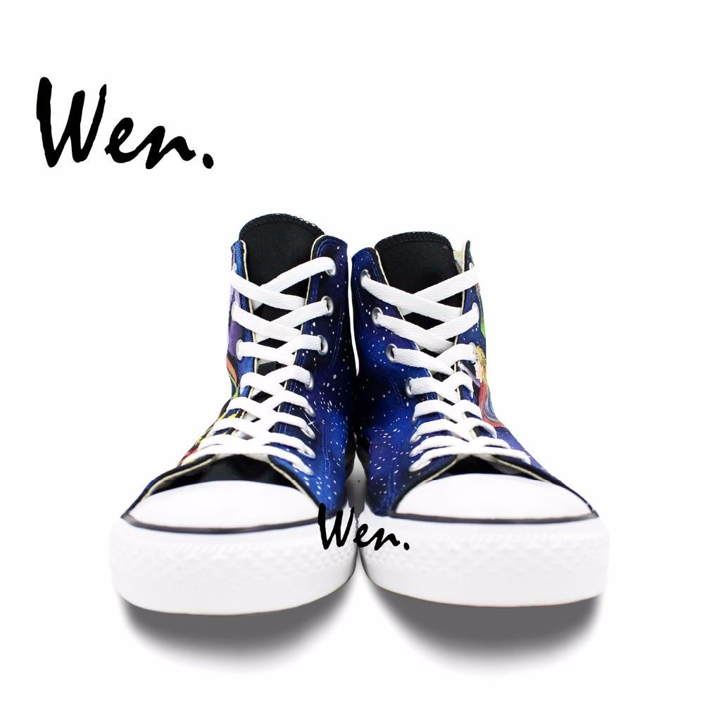 Wen Anime Design Custom Hand Painted Shoes Neon Genesis Evangelion Men  Women s High Top Canvas Sneakers. sku  32642367097 994afa0c71d4