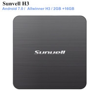 Sunvell H3 Smart TV Box Allwinner H3 Android 7.0 2GB RAM 16GB ROM 2.4G WiFi 100Mbps Support 4K H.265 3D Games Video