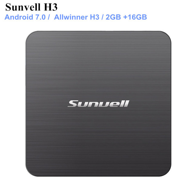 US $26 0 |Sunvell H3 Smart TV Box Allwinner H3 Android 7 0 2GB RAM 16GB ROM  2 4G WiFi 100Mbps Support 4K H 265 3D Games Video-in Set-top Boxes from