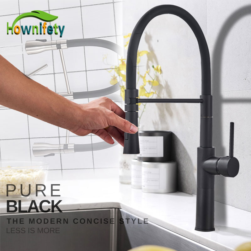 Blacked Newest Kitchen Faucet Hot Cold Mixer Crane Tap Deck Mounted 360 degree Rotatable bathroom Tall