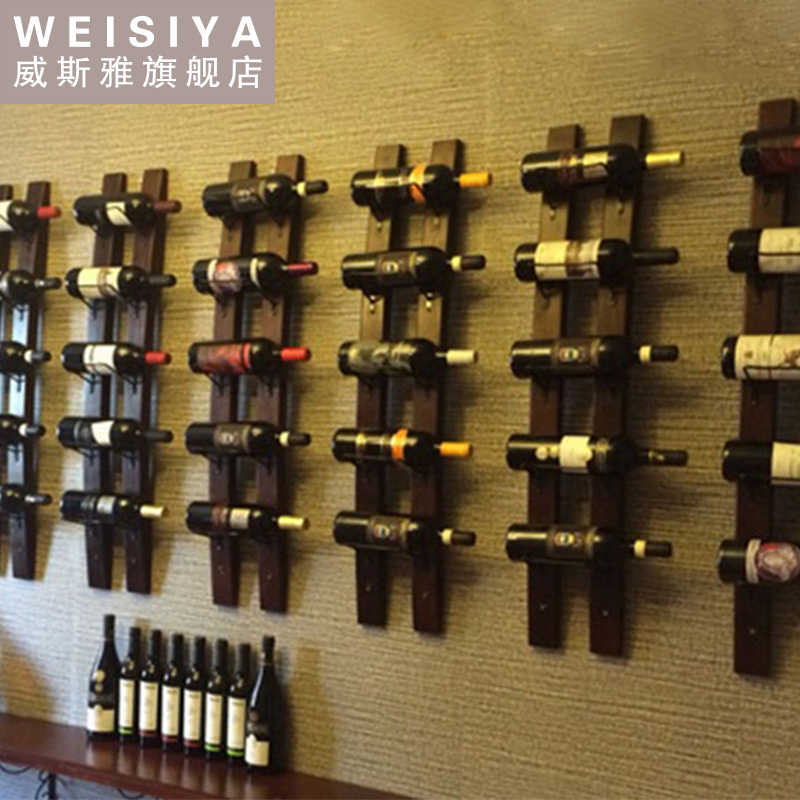 Detail Feedback Questions about Metal & Wood Wine Rack Wall