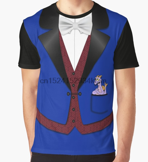 All Over Print T-Shirt Men Funy tshirt Dreamfinder wu002F Figment Short Sleeve O-Neck Tops Tee women t shirt(China)