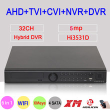 5MP CCTV Kamera Xmeye Audio Hi3531D 32CH 32 Kanal 4 * SATA 6 in 1 H.265 + Hybrid NVR CVI TVI AHD DVR Überwachung Video Recorder