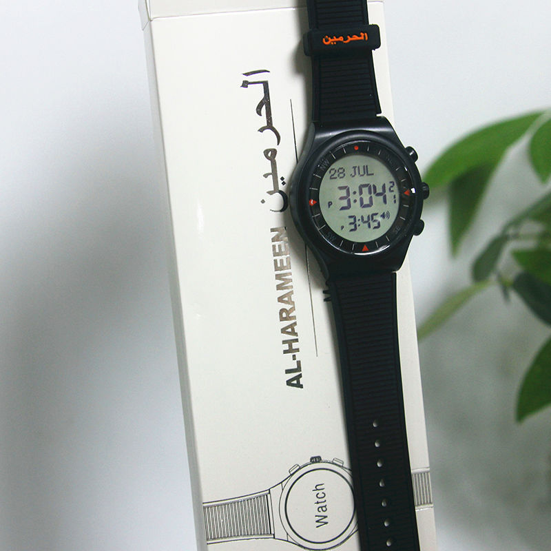 10pcs Muslim Azan Clock Colorful Islamic Digital Azan watch English Arabic alharameen muslim sports wriste azan prayer watches