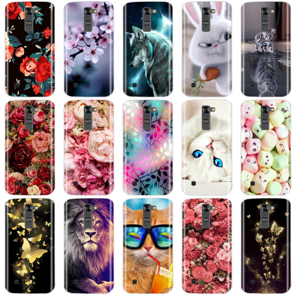 Phone Cases For LG K7 X210 X210DS EU Version Soft Silicone TPU Fashion Pattern Painted Back Cover For LG K7 Case
