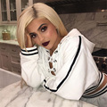 Kylie Jenner Fashion Lace Up Cropped Hoodies Casual Long Sleeve Hooded Hoodie Pullovers Women Sweatshirt Streetwear Tracksuits