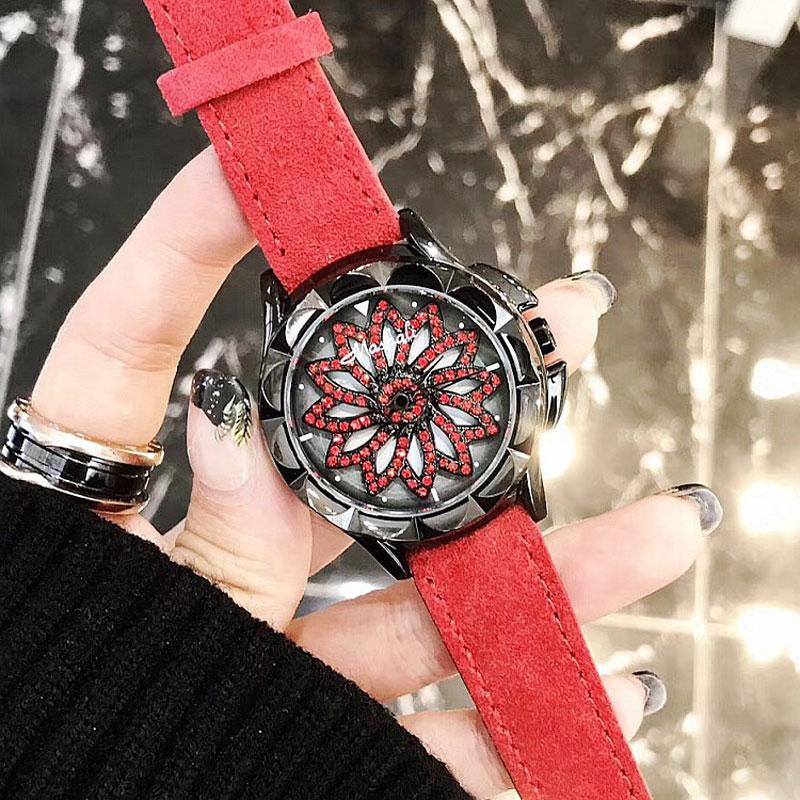 Mashali Brand Fashion luxury Women Quartz Watches Shining Rotation Dress watch Big Diamond Stone Clock watch relojes mujer motorcycle chrome front spoiler chin fairing for harley sportster xl883 1200 04 15 new