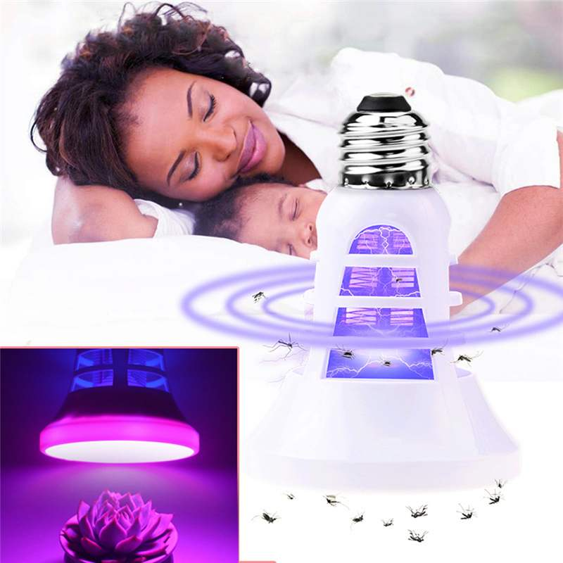 Indoor USB LED Anti Mosquito Killer Plant Light E27 110V 220V Insect Bug Zapper Lamp Trap Greenhouse Seeds Flower Growing Lamp