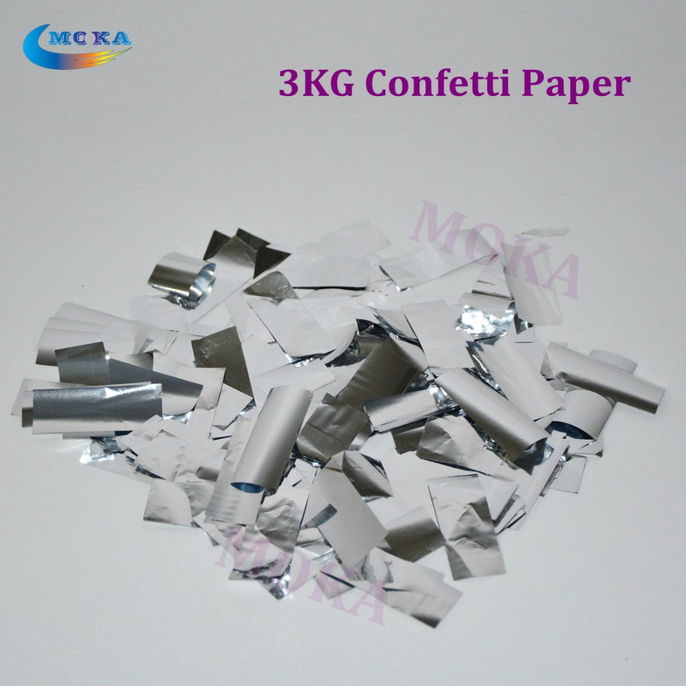 3KG/lot Wedding Confetti Metallic Silver Paper for Cannon Confetti Machine For Wedding Birthday Party 2pc lot high quality paper confetti machin shooter launcher for wedding disco dj party event decoration