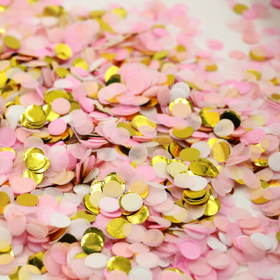 10gbag 25 Inch Small Dots Pink Gold Tissue Paper Decor Weddings