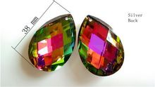 20pcs 38mm Crystal Chandelier Parts Rainbow Prisms Teardrop Almond chandelier crystal ornaments,Free Shipping