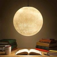 Современная люстра Луна Марс Свет круглая люстра лампа смолы спальня гостиная обеденная декоративное освещение