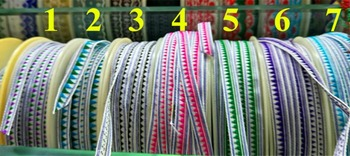 0.8-1cm single face jacquard geometry motif ribbon,national style ribbon,LLT180830A