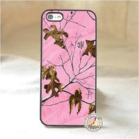 Pink Realtree Camo 2 Fashion Mobile Phone Case Cover For Iphone 4 4S 5 5S 5C