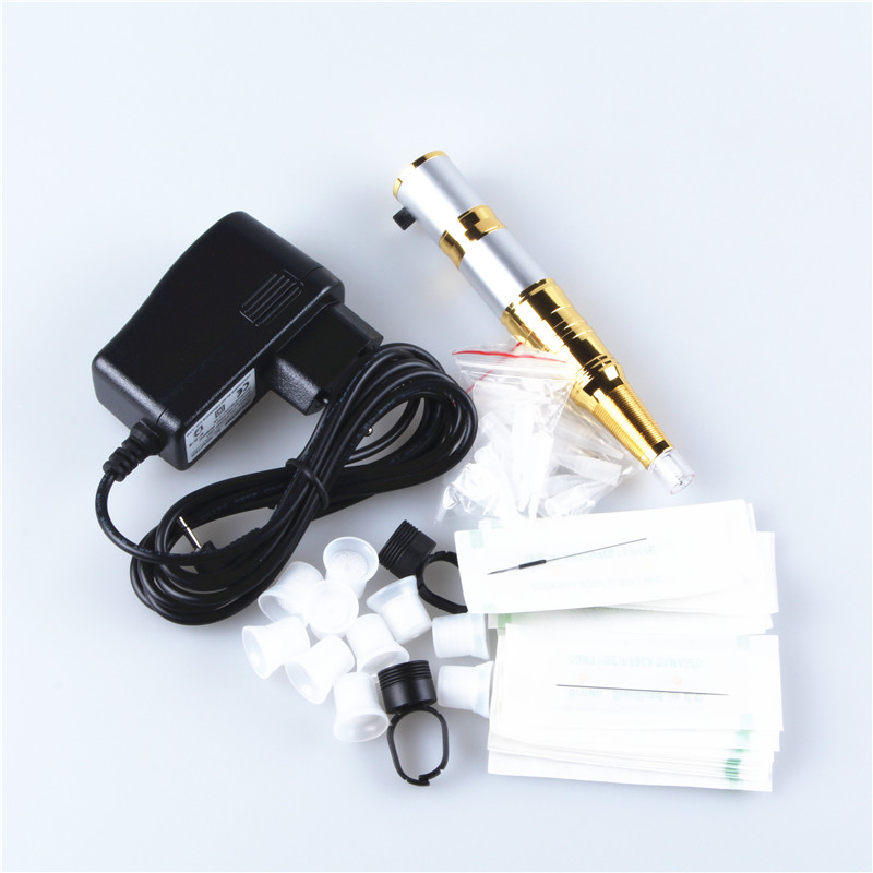 ФОТО Double Scale Makeup Electric Machine Pen Rechargeable Permanent Tattoo Guns For Eyebrow Eyeliner Lips Cosmetics With Accesories