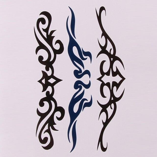 Fashion Women's Lady Flower Butterfly Style Temporary Tattoos Stickers Body Art