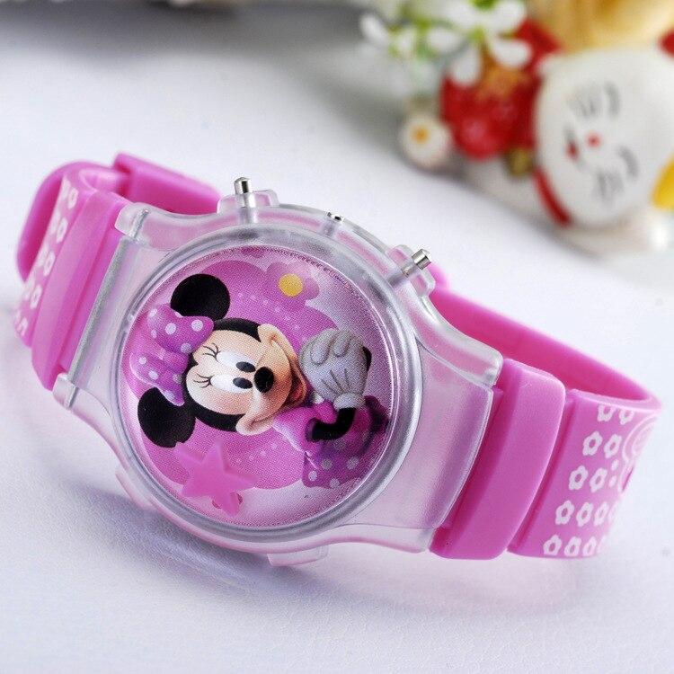 2016 Neue Mode Jungen Mädchen Silikon Digitaluhren Für Kinder Mickey Minnie Cartoon Uhr Für Kinder Weihnachtsgeschenk Uhr