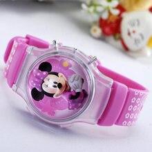 e051e25b7d6b 2016 nueva moda niños niñas silicona relojes digitales para niños mickey  minnie dibujos animados para niños