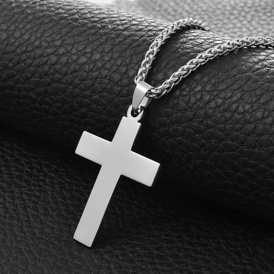 Anniyo 316 Stainless Steel Polished Pendant Necklaces for Women Men Cross,Round,Heart,Oval,Square Pendant Jewelry #108621