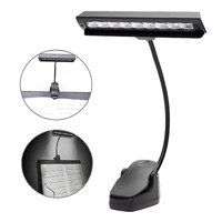 Flexible USB 9 LED Clip On Music Stand Clamp Night Light Student Table Lamp Desk Reading
