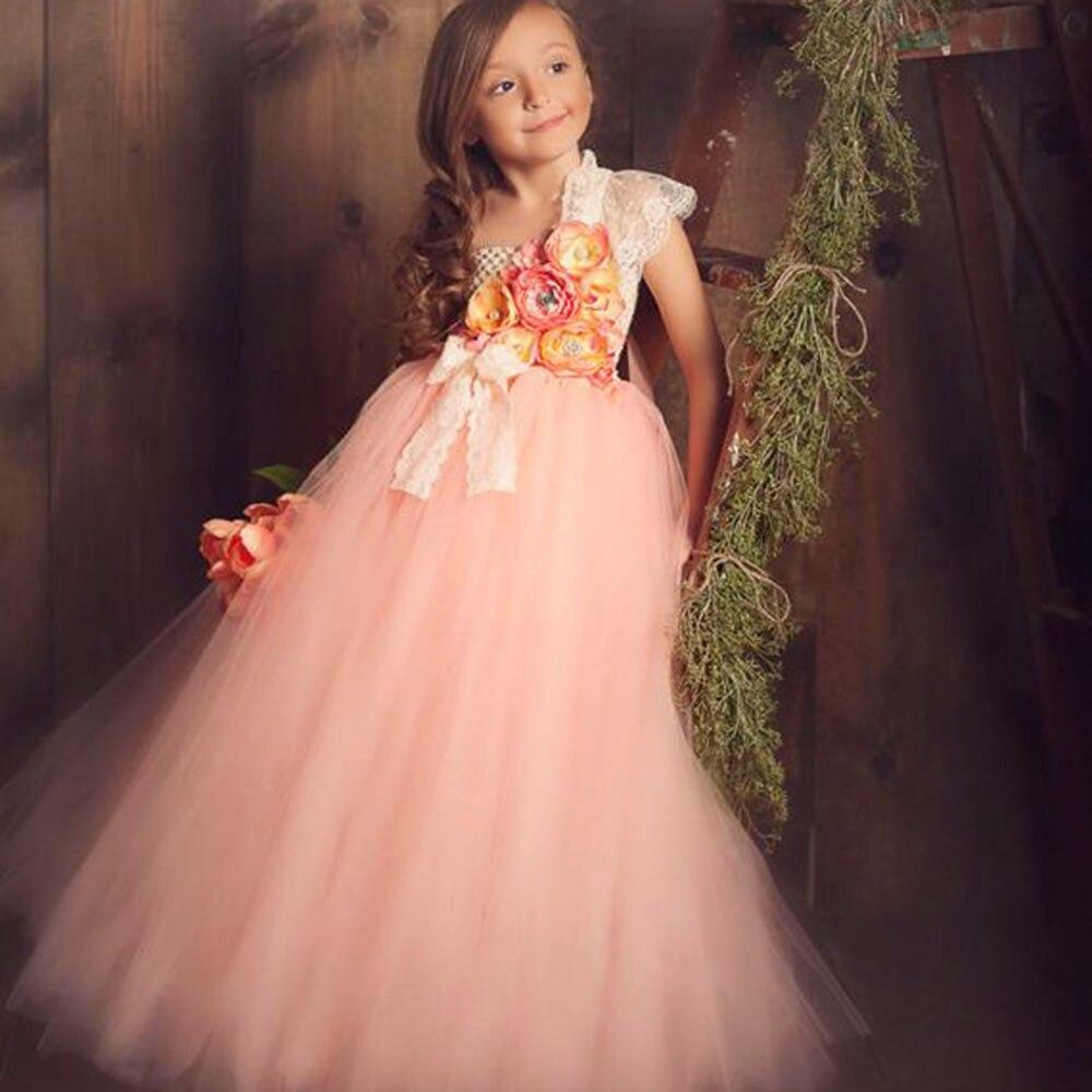 Lilacs Toddler Girl Christmas Tutu Dress Girls Frock Children Nova Ankle Length Lace One Shoulder Dress Kids Costume Princess 8T (22)