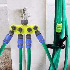 Image 2 - Garten 4 Weg Schlauch Splitter Kunststoff Anschluss Distributor Schlauch Anschluss mit Kupfer Stecker für Outdoor Tap und Wasserhahn #27224