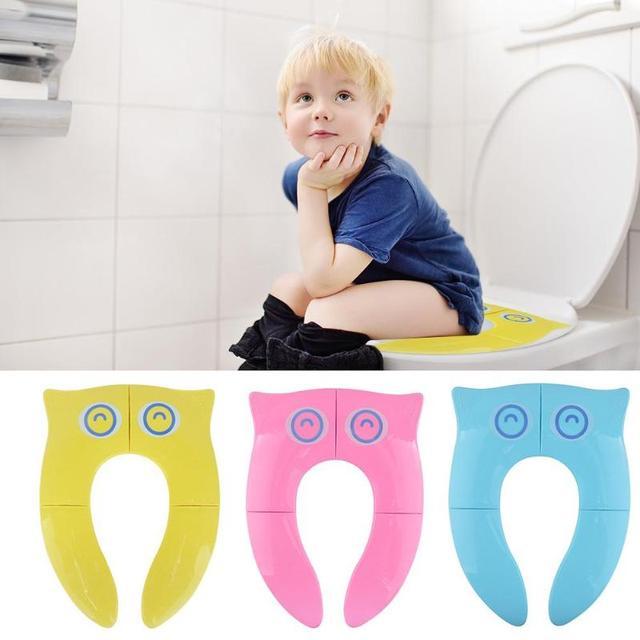 Inodoro orinal plegable portátil para niños pequeños, asiento de entrenamiento para niños, urinario de viaje para bebés, cojín para niños, alfombrilla para silla o maceta