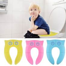 Kids after Open Applie to Almost all Toilet Eco-friendly Toilet Training Seat WC Assistant Potty Toilet Pad for Specifications(China)