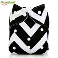 [Mumsbest] New Baby Cloth Diapers Cover Black & White One Size Adjustable Diaper Washable nappy Reusable Cloth Baby Nappies