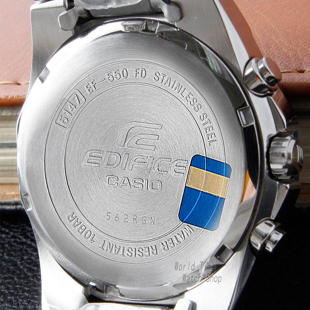 ecfa744ac38 Relógio Casio Edifice Tendência Esportes Relógio de Quartzo dos homens de  Negócios Calendário Relógio À Prova D  Água EF 550 EF 5581 em Relógios de  quartzo ...