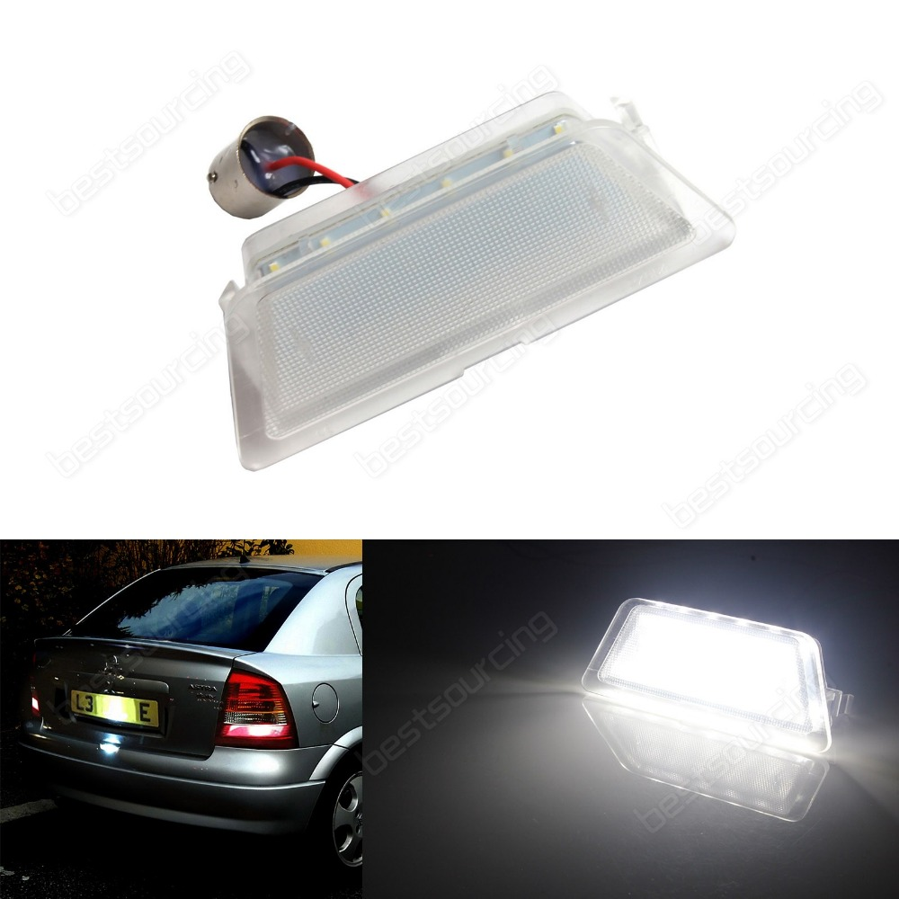 1x For Vauxhall Opel Rear Licence Number Plate LED Light 98-04 Astra G MK4 HB Saloon(CA337) vauxhall opel led licence number plate light astra f g corsa omega signum vectra ca233